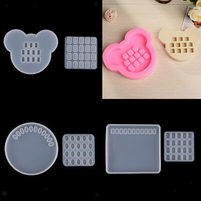 3D Car Call Numbers Plate Silicone Mold Resin Casting Craft Mould Tools DIY