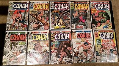 Conan the Barbarian Early 10 comic lot 1970's issues 100-109
