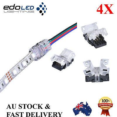 4X10Mm Rgb Snap Connector 4 Pin Wire Waterproof Led Strip Light Solderless