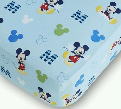 "New Disney Baby ""m Is For Mickey"" Mickey Mouse Fitted Crib Sheet"