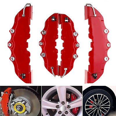 3D 4Pcs Style Car Universal Disc Brake Caliper Covers Parts Front & Rear Hot