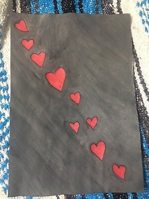 Trail Of Hearts Drawing/Painting- Hand Drawn