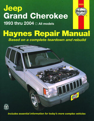Haynes Workshop Manual for Jeep Grand Cherokee (93-04)