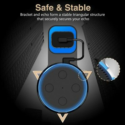 ABS Outlet Wall Mount Charger Hanging Bracket Holder for Amazon Echo Dot 2nd