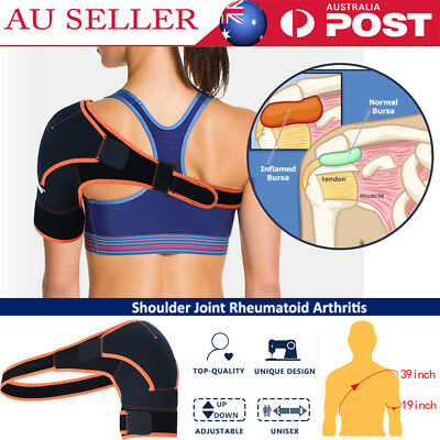 Adjustable Compression Shoulder Protection Support Brace Bandage Wrap Strap AU