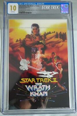 Star Trek  The Wrath Of Khan * 2018 Silver Foil * Cgc 10 Gem Mint First Releases