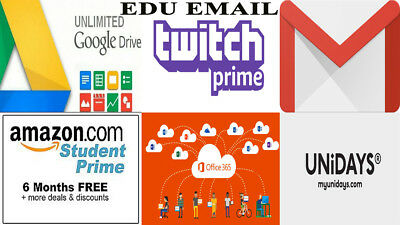 EDU Email Address = Free 6 Months Amazon Prime+google drive unlimited+more