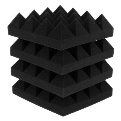 4pcs Soundproof Sound Stop Absorption Pyramid Studio Home Office Foam Board