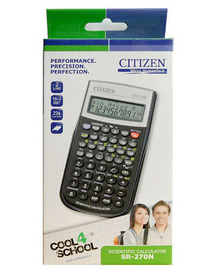 Citizen SR-270N Scientifique Calculatrice Noir Neuf et Emballage D'Origine