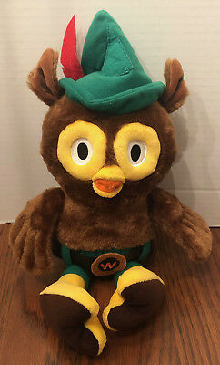 """WOODSY OWL PLUSH 16"""" Give a Hoot Don't Pollute Stuffed Animal Doll Toy New"""