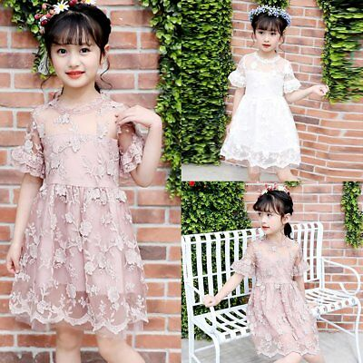Toddler Baby Princess Pageant Kids Girl Lace Tutu Dress Wedding Party Dresses