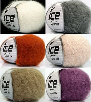 30g 120g 3,25€//100g Mohair Wolle Everest Mohair 21/%Mohair 13/%Wolle 120m