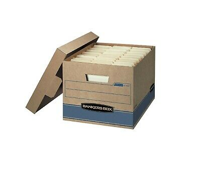 """Bankers Box Heavy Duty Storage Boxes 10x12x15"""" 10 Pack"""