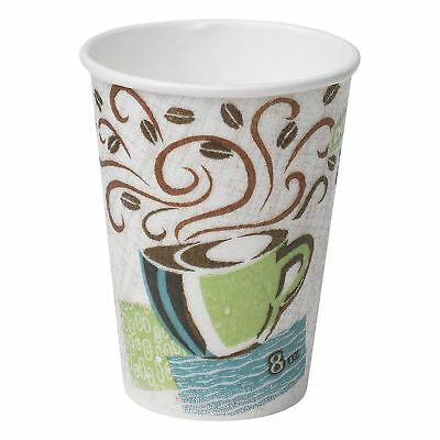 Dixie PerfecTouch Hot Cups 156 Ct  Insulated Paper 16 oz Coffee Haze Design