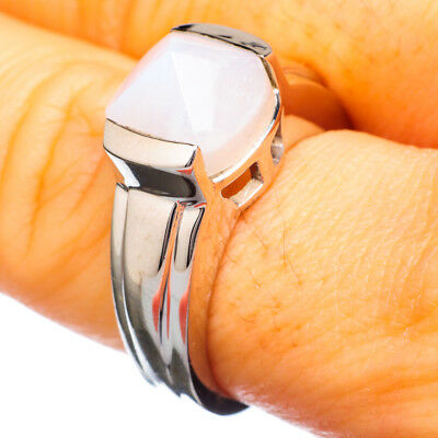 Rainbow Moonstone 925 Sterling Silver Ring Size 8.5 Ana Co Jewelry R924062F