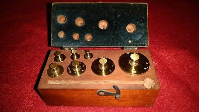 Vintage Assayer's Counterbalance Weight Set, Henry Troemner, 7 Wts in Case, RARE