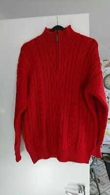 Woolovers Red Jumper Size M