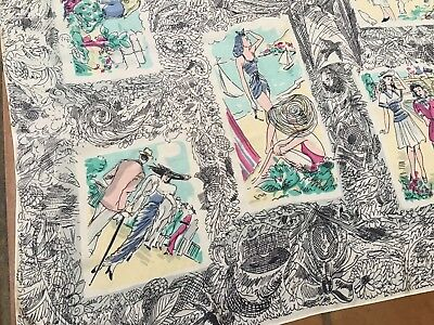Vintage 1940's Silk Scarf- Fabulous Forties Fashion