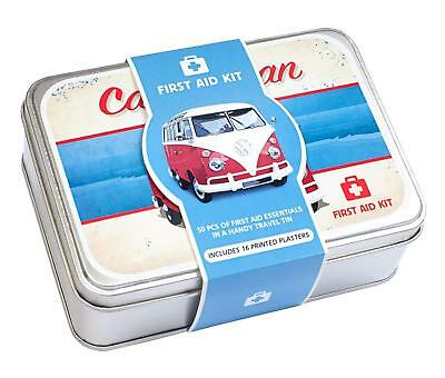 VW Campervan First Aid Kit 50 Piece First Aid Travel Tin Gift Idea Volkswagon