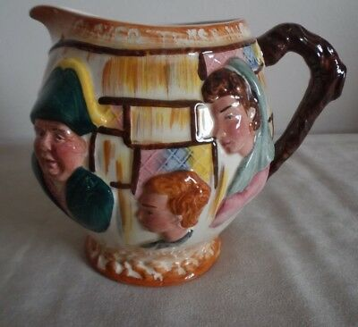 Lancaster Sandland ~  Rounded Jug ~ With Dickensian Characters ~ 13Cm High