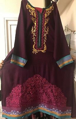 Indian Pakistani Embroidered stitched Khaddar Winter Suitsalwar Kameez Shalwar l