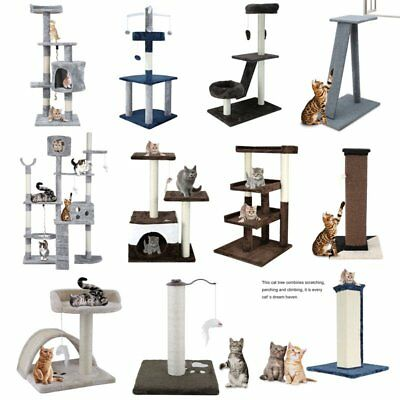 Cat Tree Scratching Post Scratcher Pole Gym Toy Home Furniture Multilevel