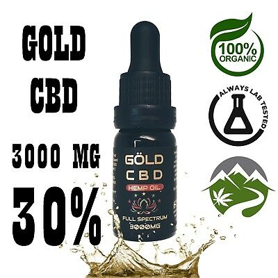 GOLD 3000mg C * B * D  CBD30% C Hemp Oil || B || Full Spectrum || D | Lab Tested