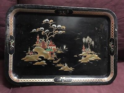 Tray Table Chinese Black China Tin Breakfast Tray Trayble