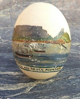 Fine Old Rare? South African Xhosa Zulu Artist Painted Ostrich Egg Cape Town Nr!