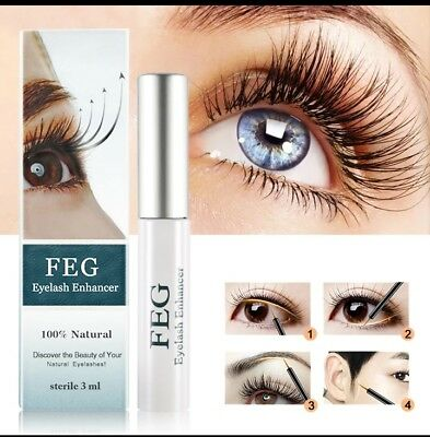 FEG eyelash enhancer 100% natural thicker fuller darkness