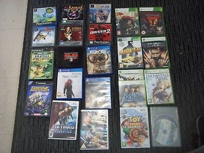 Job Lot/Bundle of Multi Platform Video Games.PS1/4/WII/360.NO SPORT.