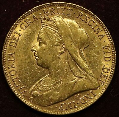 Victoria 1900 Gold Sovereign  St. George