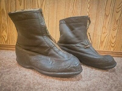 WWII US AAF TYPE A-5 Bomber Pilot Flight Boots - Army Air Force Squadron Shoes