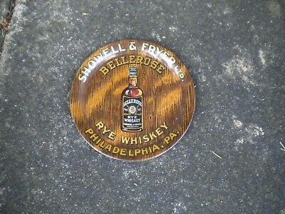 Scarce Early Showell Fryer Rye Whiskey Advertising Tip Tray Philadelphia, Pa.