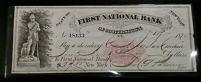1875 First National Bank Of Cooperstown Note