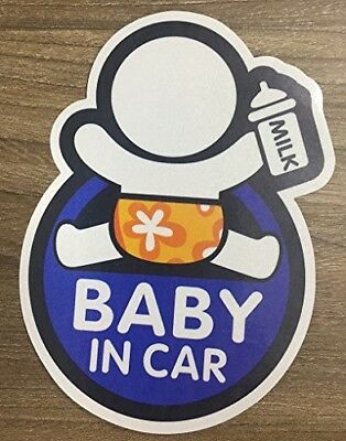 Brightt Set x2 Baby On Board Safety Stickers All Cars Trucks SUV (Work All Type