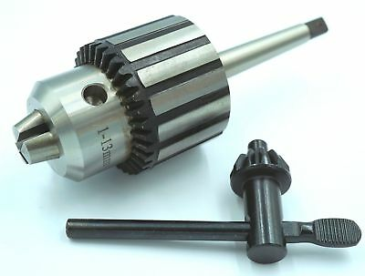 Quality Drill Chuck 1 - 13 mm with 1 MT Arbor Drilling Machine , Lathe etc