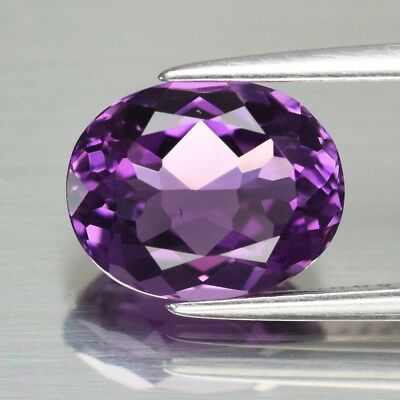 Top! VVS 2.86ct 10x8mm Oval Natural Unheated Purple Amethyst