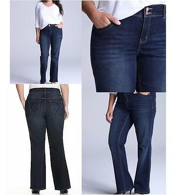 Lane Bryant jeans tighter tummy tuck stretch bootcut 14 petite $69 price NWT