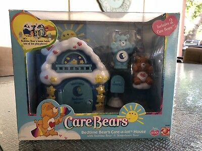 Vintage Care Bears Care-a-lot Bedtime Bear House Play Set Tenderheart Rare 2003