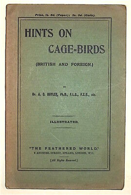 Butler, Dr. Arthur G. HINTS ON CAGE BIRDS, British and Foreign. London, 1903