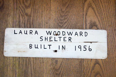 Laura Woodward Shelter, trail sign