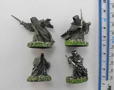 4 RINGWRAITHS Metal Lord of the Rings LOTR Evil Army Nazgul Ring Wraiths 57