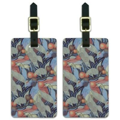 Fruits Leaves and Vines Pattern Luggage ID Tags Carry-On Cards - Set of 2