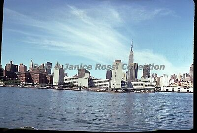 N184 35mm Slide 1975 New York City From the Water Color Transparency