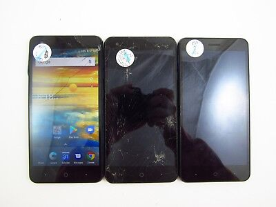 Lot of 3 Parts & Repair ZTE Blade Force N9517 Boost Mobile Check IMEI PR 3-1493