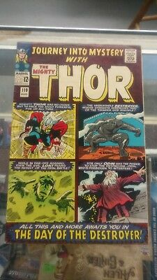 JOURNEY INTO MYSTERY MIGHTY THOR #119 Comic Book 1st App Hogun,Fandral,Volstagg