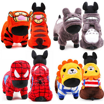 Small Pet Dog Costume Jumpsuit Winter Puppy Clothing Hoodie Sweater Coat Jacket