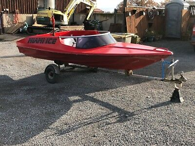 13 for Ski Speed Boat possibly Marina GT with Suzuki GT outboard and trailer