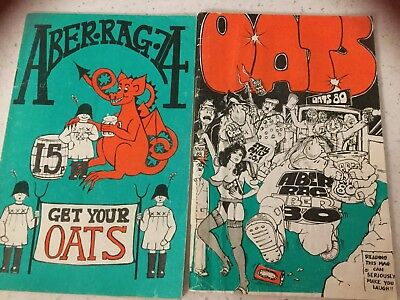 Aberystwyth University Rag Mags 1974 1980 Get Your Oats Student Union
